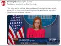 美国共和党人要求拜登辞职,白宫:今天不谈政治